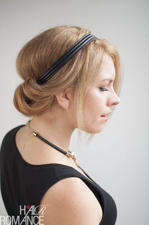 How-to-do-a-low-rolled-updo-by-Hair-Romance